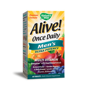 Alive Once Daily Men`s Multi Vitamin Ultra Potency 60 Tablets
