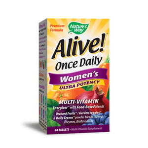 Alive Once Daily Women`s  Multi Vitamin Ultra Potency 60 Tablets