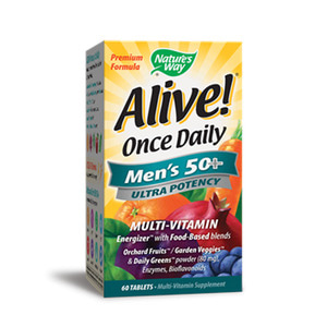 Alive Once Daily Men`s 50+ Multi Vitamin Ultra Potency 60 Tablets