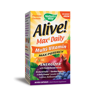 Alive Max Potency Multi Vitamin no Iron added 90 Vegetable Capsules