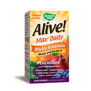Alive Max Potency Multi Vitamin 90 Vegetable Capsules