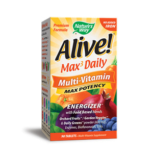 Alive Max Potency Multi Vitamin no Iron added90 Tablets