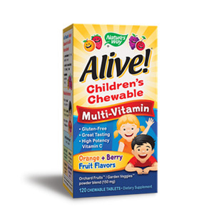 Alive Childrens Multi-Vitamin 120 Chewable tablets